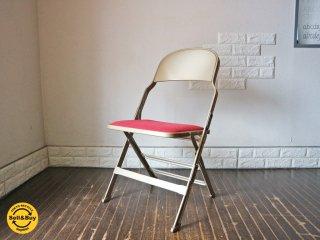 クラリン CLARIN フォールディングチェア 折り畳みチェア Folding chair SANDLER レッド ファブリッククッション仕様 パシフィックファニチャーサービス取扱 ◎