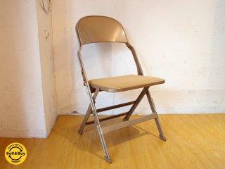 クラリン CLARIN フォールディングチェア 折り畳みチェア Folding chair SANDLER ベージュ ファブリッククッション仕様 P.F.S取扱 ★