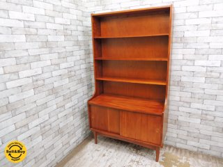 北欧ビンテージスタイル ブックシェルフ 本棚 飾り棚 H180cm ■