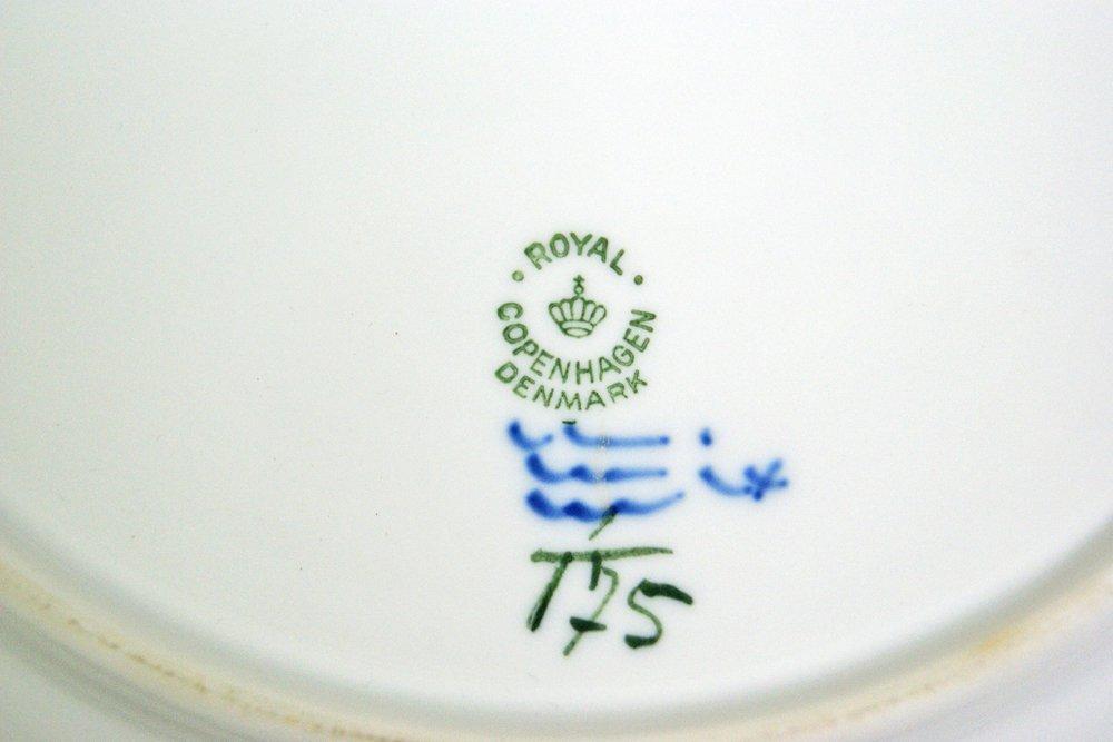 ロイヤルコペンハーゲン ROYAL COPENHAGEN ブルーフルーテッド プレーン プレート 25cm A ●