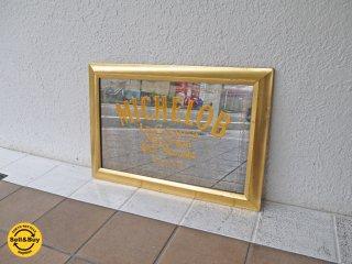 ビンテージ ミケロブ MICHELOB パブミラー 木製 ミラー バドワイザー Budweiser 壁掛け 飾り ディスプレイ 鏡 インテリア 店舗什器 ◇