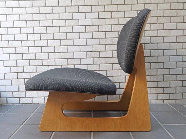 天童木工 TENDO 低座椅子 ローチェア ネイビー ナラ柾目 長大作 デザイン 和モダン ■