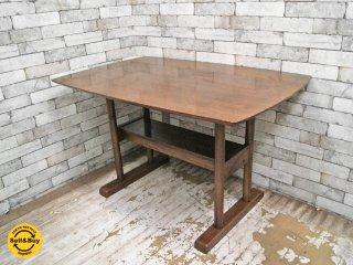 ウニコ unico スーク SUK ダイニングテーブル ブラウン W115cm カフェスタイル ●