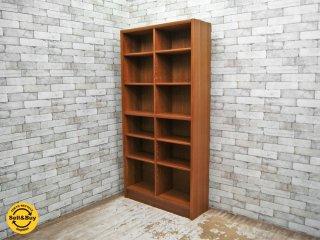 ジャパンビンテージ チーク材 ブックシェルフ 本棚 飾り棚 6段 ●