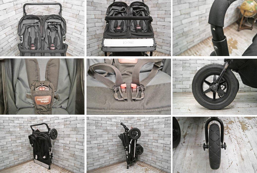 マウンテンバギー Moutain Buggy ベビーカー 双子用 ブラック duet コクーン付 合計定価¥139,320 ●