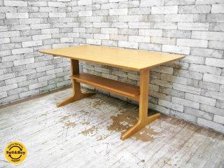 無印良品 MUJI リビングでもダイニングでもつかえる テーブル オーク材 W130cm ●