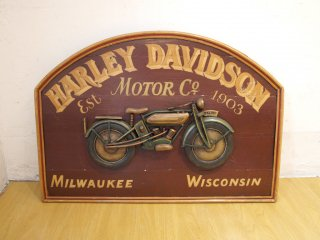 アメリカンインテリア ハーレーダビットソン Harley Davidson ウォールインテリア 看板 店舗ディスプレイ ビンテージ ★