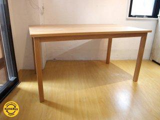 無印良品 MUJI ダイニングテーブル Dining table オーク 無垢材 シンプル ナチュラル W140 ★
