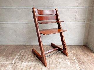 ストッケ STOKKE トリップトラップ TRIPP TRAPP チェア 新型 レッド ベビーチェア ステップアップ ハイチェア 子供椅子 ◇