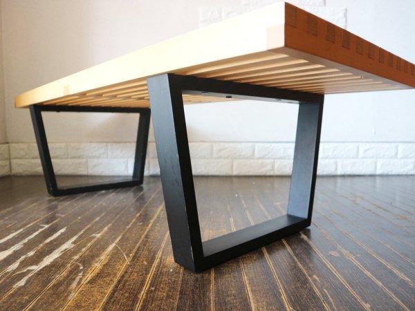 ジョージ ネルソン George Nelson プラットフォーム ベンチ Platform Bench テーブル ミッドセンチュリーデザイン リプロダクト ◎
