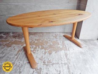 飛騨産業 HIDA 森のことば ibuki 楕円形 オーバル型 ダイニングテーブル オーク材 幅150cm♪