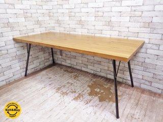 ジャーナルスタンダードファニチャー journal standard Furniture サンク SENS ダイニングテーブル Lサイズ オーク材 アイアン脚 インダストリアル ●