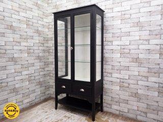ウニコ unico アレット ALETTE ガラスキャビネット ドクターキャビネット ブラック 定価¥102,600- ●