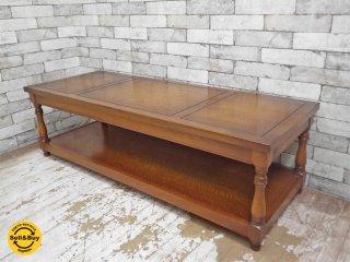 コスガ KOSUGA センターテーブル ローテーブル ナラ材 クラシカルスタイル ●