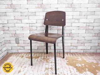ヴィトラ Vitra スタンダードチェア Standard chair ダークブラウン edition 2002 ジャン・プルーヴェ jean prouve collection A ●