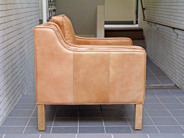 ハロ HALO ジャーナルスタンダードファニチャー journal standard Furniture ダブルネーム アイメッシュ IMESH レザー 1人掛け ソファ   キャメル 本革 ■