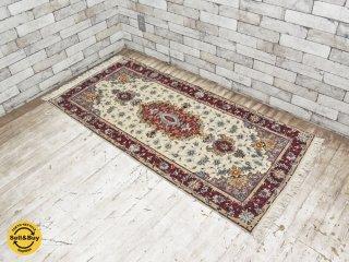 イラン製 ペルシャ絨毯 54万ノット ラグ マット 154×72cm ●