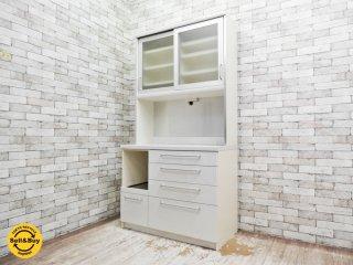 パモウナ Pamouna キッチンボード キャビネット 食器棚 シンプルモダンデザイン ●