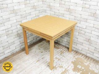 無印良品 MUJI タモ材 伸長式 ダイニングテーブル エクステンション ナチュラルスタイル ●