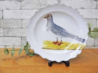 アスティエ・ド・ヴィラット ASTIER de VILLATTE ジョン・デリアン JOHN DERIAN 野鳩 プレート 25cm ●