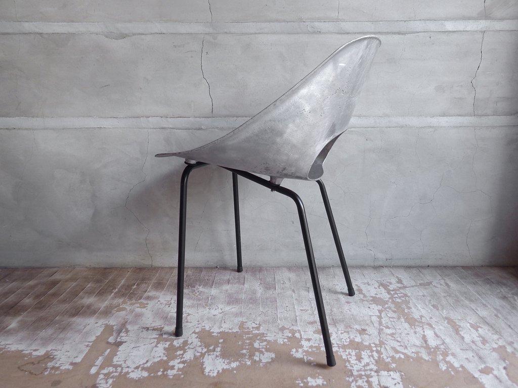 シュタイナー Steiner ビンテージ チューリップチェア Tulip Chair アルミキャスト製 ピエール ガーリッシュPierre Guariche♪