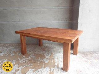 チーク無垢材 センターテーブル ローテーブル ♪