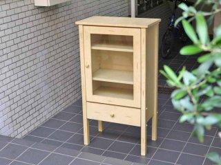 シャビーシック ペインテッド 木製 スモール キャビネット ホワイト フレンチカントリー ■
