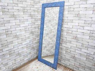 エイチピーデコ H.P.DECO NYミラー 姿見 ブルー アメリカンビンテージ 定価129,600- ●