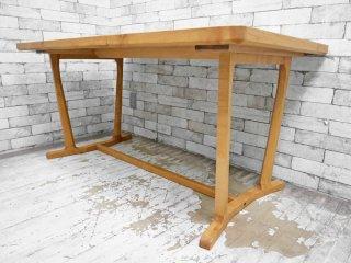 朝日木材 ボスコ BOSCO リビング ダイニングテーブル ニヤトー材 オイル塗装 廃盤品 ●