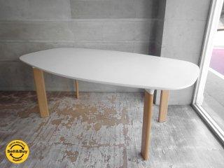 フリッツハンセン Fritz Hansen アナログ テーブル ANALOG table ダイニングテーブル オークベース ホワイトラミネート ハイメ・アジョン W185cm ♪