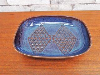 スーホルム SOHOLM EJ64シリーズ オーバルプレート エイナー・ヨハンセン デンマーク 北欧陶器 ●