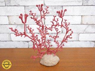 ステファノ・ポレッティ STEFANO POLETTI 赤サンゴ モチーフ キャンドルホルダー オブジェ H.P.DECO取扱い ●