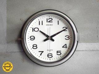 セイコー SEIKO ヴィンテージ 壁掛け時計 ウォールクロック バス時計 船舶時計 レトロスタイル スイープセコンド♪