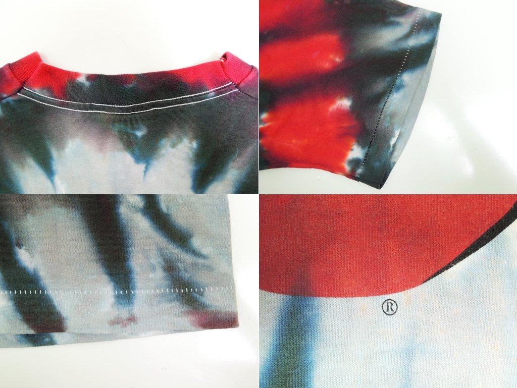ザ・ローリングストーンズ THE ROLLING STONES 90'sビンテージ Tシャツ タイダイ染め LIQUID BLUE Lサイズ シングルステッチ 希少 ●