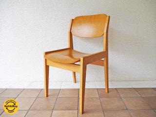 天童木工 TENDO ブックチェア 図書館椅子 ダイニングチェア ナチュラル 水之江忠臣 ◇
