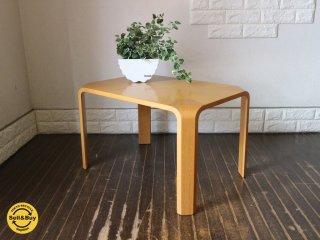 天童木工 Tendo プライウッド 座卓 欅材 ローテーブル w65cm 乾三郎 デザイン ◎