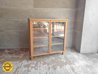 無印良品 MUJI 組み合わせて使える木製収納 ガラス扉セット 奥行き40cm オーク材 ♪