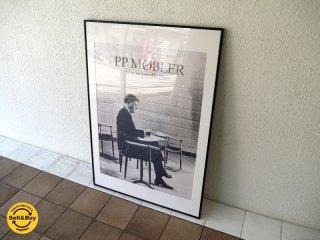 PP Mobler PPモブラー 額装 06年製造 非売品 ポスター ハンス J. ウェグナー Wegner 名作 ザ・チェア × ジョン・F・ケネディ Kennedy デンマーク ◇