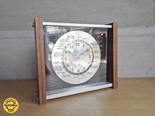 ロードキング LOAD KING ワールドクロック 世界時計 置時計 チーク材xアルミ ♪