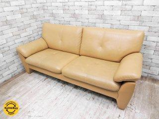 カリモク karimoku ZU28シリーズ 3人掛け レザーソファ 本革 長椅子 参考価格:250,560円 ●