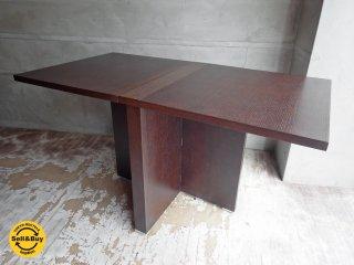 モーダエンカーサ moda en casa バタフライ ダイニングテーブル 2+2 Table ダークブラウン ♪