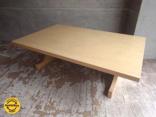 天童木工 TENDO 文机 ローテーブル メープル材 剣持勇デザイン OM2014♪