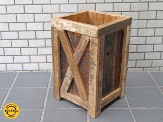 ジャーナルスタンダードファニチャー Journal standard Furniture ブレダ BREDA dust box ダストボックス 傘立て 古材 リサイクルウッド 廃盤 ■