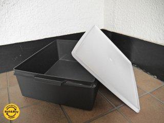 タッパーウェア Tupperware スーパーケース Super Case ホワイト×グレー 20リットル ビンテージ - A ◇