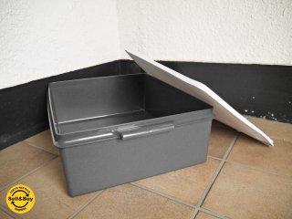 タッパーウェア Tupperware スーパーケース Super Case ホワイト×グレー 20リットル ビンテージ - B ◇