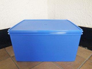 タッパーウェア Tupperware ディープスーパーケース ブルー Super Case 31L 70s〜80s ビンテージ 美品 ◇