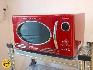 ノスタルジア・エレクトリックス Nostalgia Electrics 電子レンジ Microwave Retro Series.9 レッド アメリカ レトロポップ ★