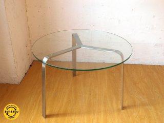 イデー IDEE イール IR サイドテーブル Side table ガラストップ ステンレス フレーム  ラウンドテーブル ★