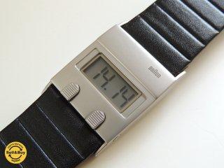 ブラウン BRAUN デジタルウォッチ 腕時計 DW30復刻モデル BN0076 ディーター・ラムス & ディートリッヒ・ルブス ケース付 ●