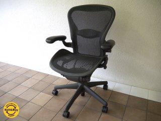 ハーマンミラー HermanMiller アーロンチェア Aeron Chair ランバーサポート フル装備 Bサイズ ( M ) 定価¥183,600- ( デスクチェア / オフィスチェア ) ◇